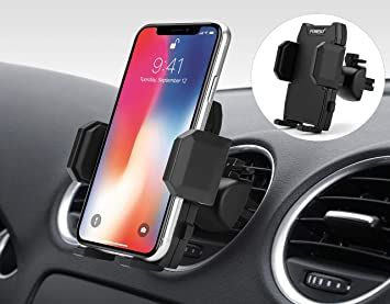 Foneso Soporte de Teléfono Móvil para Coche, Soporte Celular Universal Rejilla Ventilación con Rotación 360 Grados y Abrazadera Ajustable para iPhone 11 XS MAX/XR/X Samsung S10/S9/S8 Huawei P30pro: Amazon.es: Electrónica