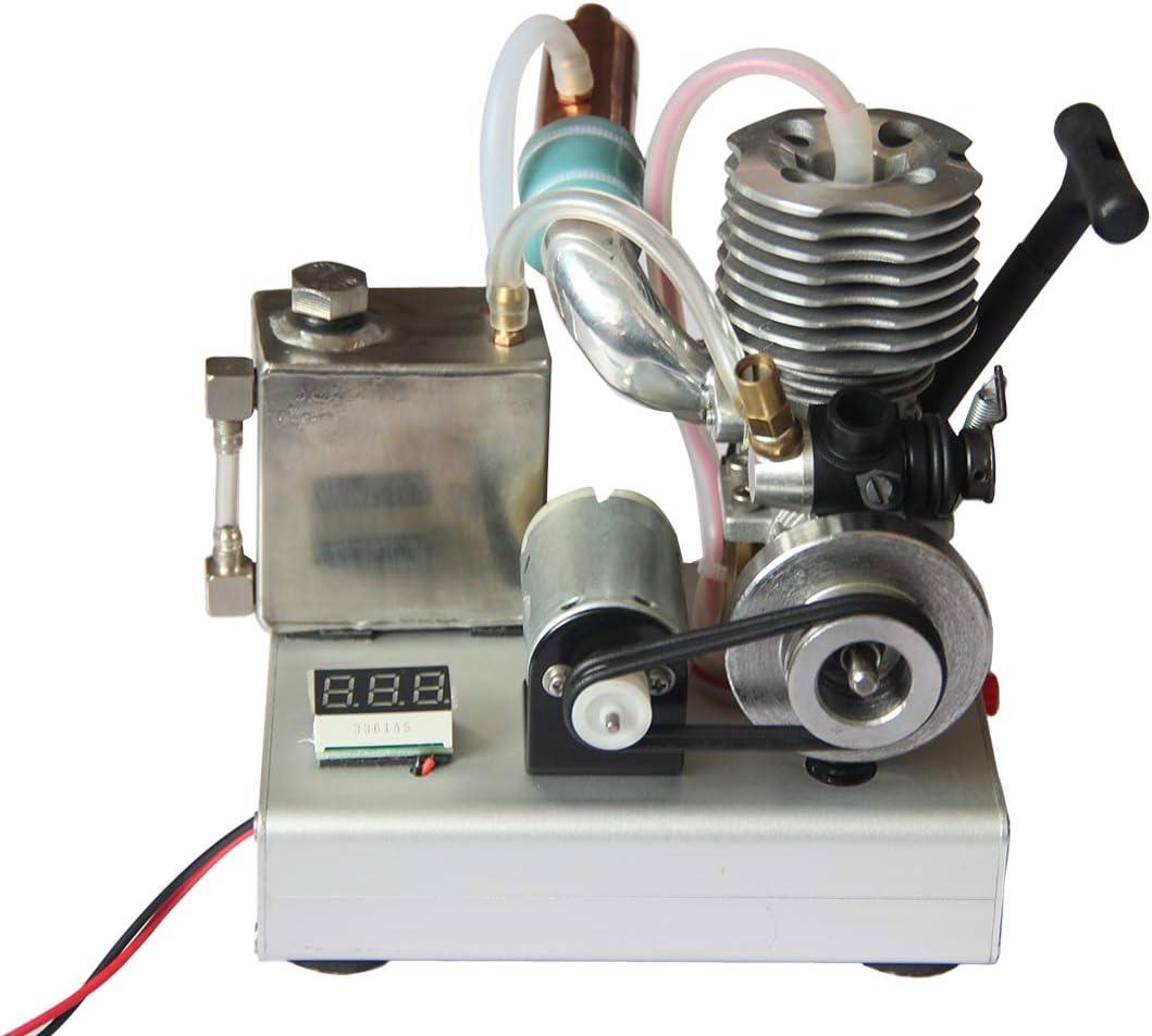 deguojilvxingshe VX Level 15 - Motor de gasolina de un solo cilindro de 2 tiempos, 12 V, generador de baja tensión, modelo de motor de experimentación educativa, arranque manual