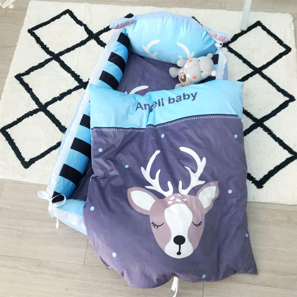 F2 88505cm Baby Travel Bed Cotton Portable Folding Detachable Wash 2 3 Sets,E2,88  50  5cm
