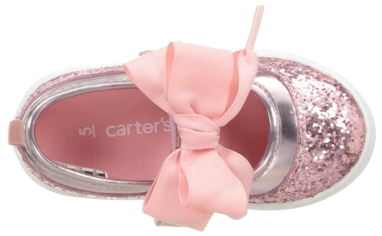 Carter's Girls' Alberta Bow Mary Jane Flat, Pink, 3 M US Little Kid by Carter's (Image #8)
