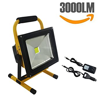 Spotlights 30W LED Outdoor Work Lights Camping Lights,Rechargeable Portable  LED Work Light Camping Emergency