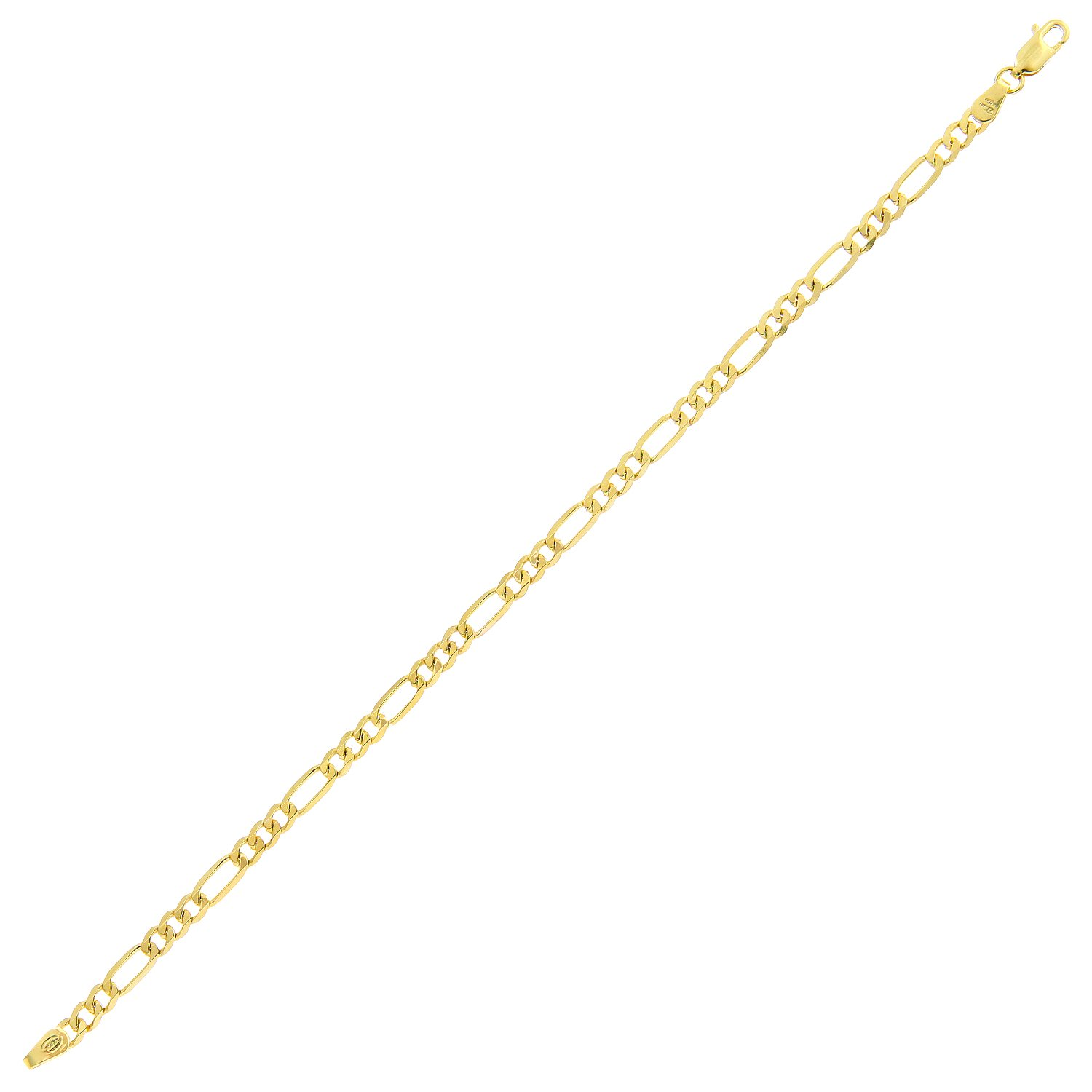 Fine Jewellery Persevering 9ct White Gold & 9ct Yellow Gold Bracelet 100% Guarantee