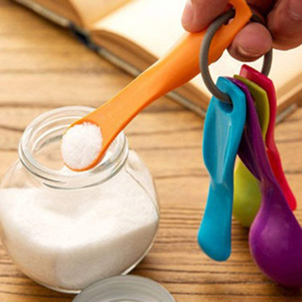 Prinbong Messl/öffel mit Skala Messbecher Kombination Zuckerkuchen Backl/öffel