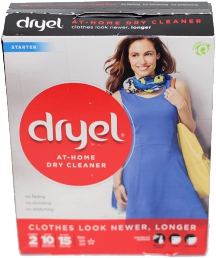 Dryel In-Dryer Cleaning Starter Kit, Breezy Clean Scent, 1 Kit