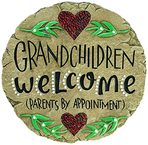 Carson Home Accents Beadworks Grandchildren Welcome Garden Stone