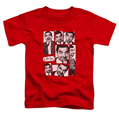 2c6e36a7c Mr Bean - Toddlers Boxed Beans T-Shirt, 4T, Red: Amazon.co.uk: Clothing
