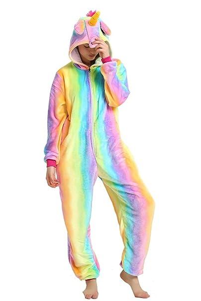 Mystery&Melody Unicornio pijamas traje de cosplay para mujeres niñas Halloween pijamas de animales de Navidad (