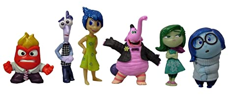 3a6271aa477 Amazon.com  Disney Pixar Inside Out 6 Piece Figure Set - Disgust ...