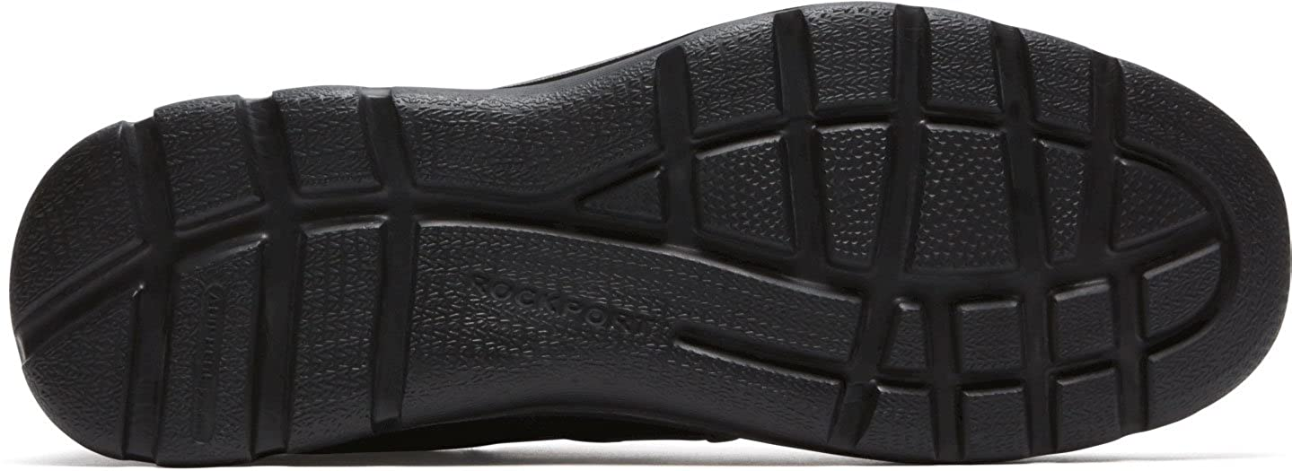 7 W Rockport Mens Gyk Slip On Shoes Color Black Size