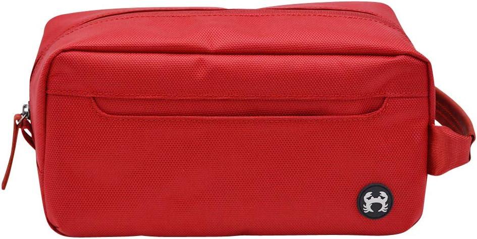 BagSy Crab Your Bag - Neceser de Aseo Organizador de Maquillaje   Kit Organizador Portátil de Viaje   Neceser de Viaje Elegante, Moderno, Ultraligero, Impermeable y Espacioso (Rojo)