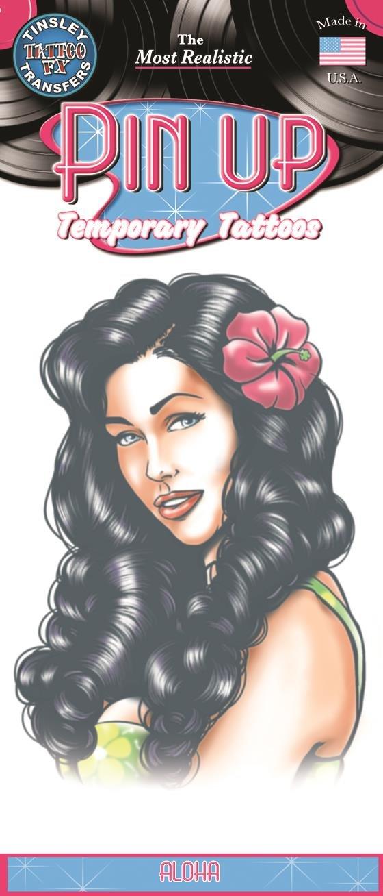 Chaks pu-716, tatuaje pin-up Aloha: Amazon.es: Juguetes y juegos