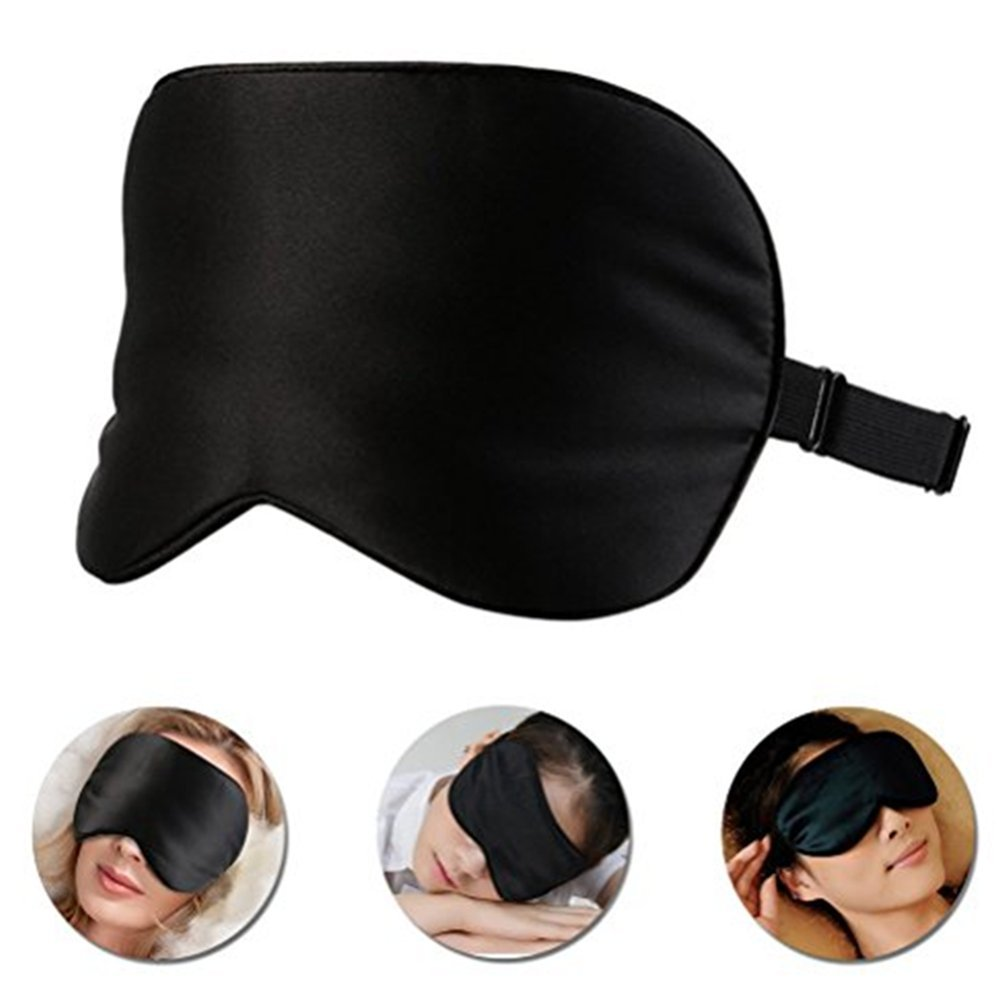 Masque de Sommeil de Voyage pour Un Sommeil l/éger avec Un Blocage de la lumi/ère /à 100/% Masque de Couchage Confortable pour Une Relaxation Profonde Masque pour Les Yeux et Masque de Nuit Luxueux