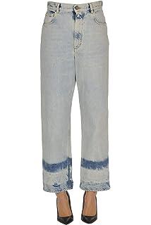 Golden Goose Luxury Fashion Femme G35WP019A2 Bleu Pantalon
