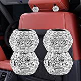 Sino Banyan Headrest Collar for Car Interior Decoration,Chrome Crystal Bling Style(4 Pack)