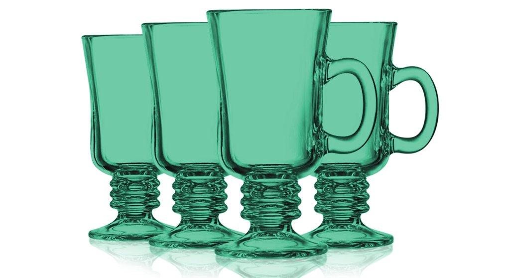 Aqua Irish Coffee Mug Fully Colored - 8.5 oz. set of 4- Additional Vibrant Colors Available