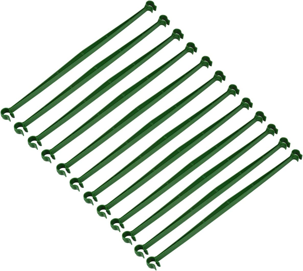 Yardwe 12PCS Stake Arms for Tomato Cage Support, Expandable Trellis Connectors for Any 11mm Diameter Plant Stakes, 2 Buckle Climbing Plants Stakes Arm