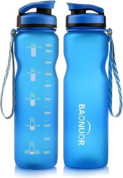 Farbe 800ml blau Transparente Trinkflasche aus Tritan