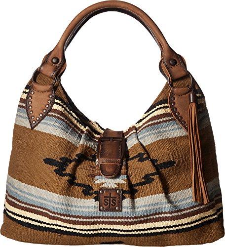 STS Ranchwear Women's Serape Slouch Bag Olive Serape/Tornado Brown One Size (Pattern Bag Slouch)