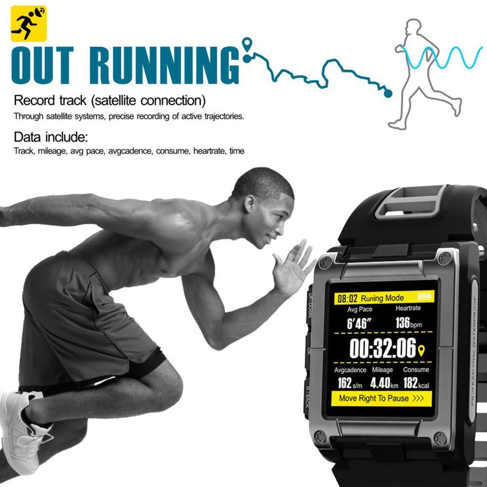 Lovewe Professional IP68 Waterproof Swimming Smart Watch Fitness Tracker Bluetooth GPS Wristband Colorful UI (Gray) by Lovewe_Smart Watch (Image #4)