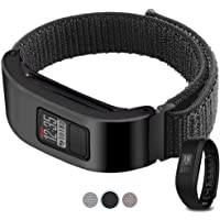 C2D JOY Only Compatible with Garmin Vivofit 3 and Vivofit Jr. Metal Case with Replacement Band, Sport Mesh Strap for Sports&Daily Activity Tracker Accessory Nylon Weave Watchband - 10#, M/6.3-8.2 in.