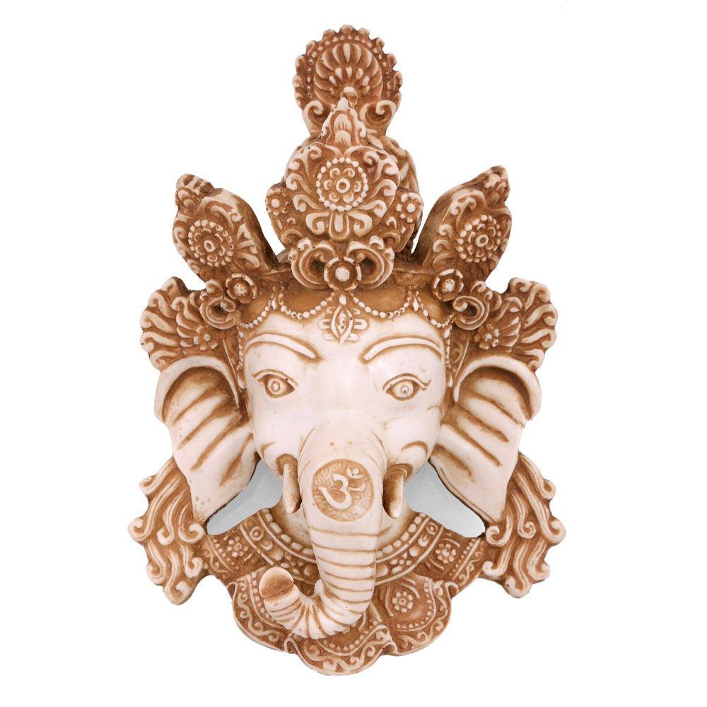 CraftVatika Lord Ganesh Wall Hanging Sculpture Hindu God Wall Decor Figurine Success Ganesha Wall Hanging mask