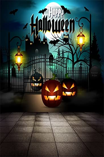 Halloween Scary Pumpkin Scary Spider Web Scary Castle Background Studio Props Scary Night Pumpkin Lantern Fairy Tale Background