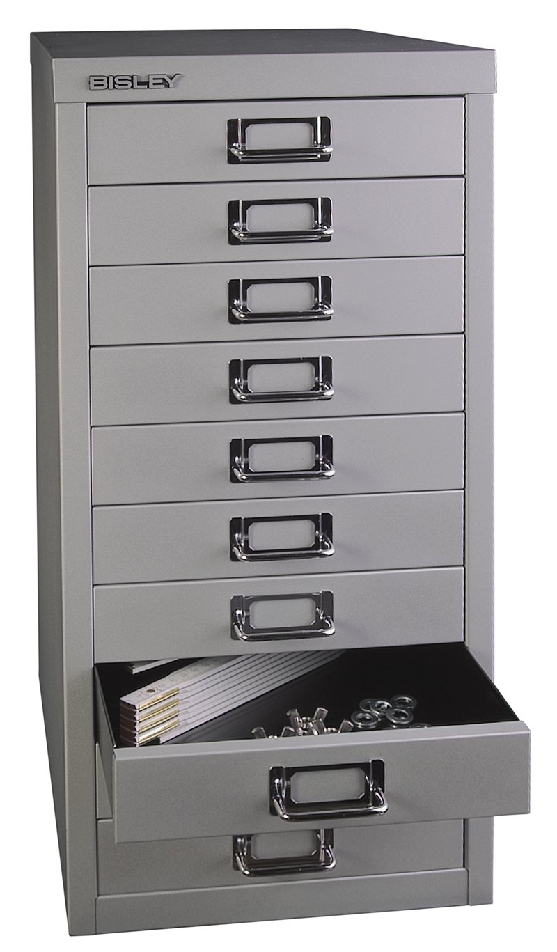 Bisley 10 Part Multi Drawer - Silver B10MDS