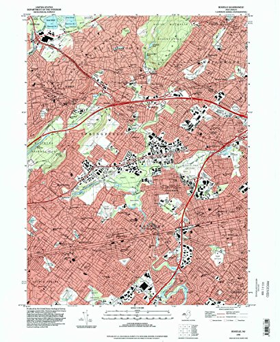 Roselle NJ topo map, 1:24000 scale, 7.5 X 7.5 Minute, Historical, 1995, updated 1998, 27 x 22 IN - Paper