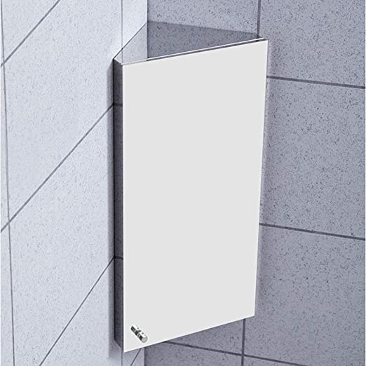 Wall Mount Corner Medicine Cabinet Bathroom Stainless Steel Storage Cabinet Three Shelves Left Right Mounting Mirror Door 300 X 600 X 190 Mm Amazon Ca Home Kitchen