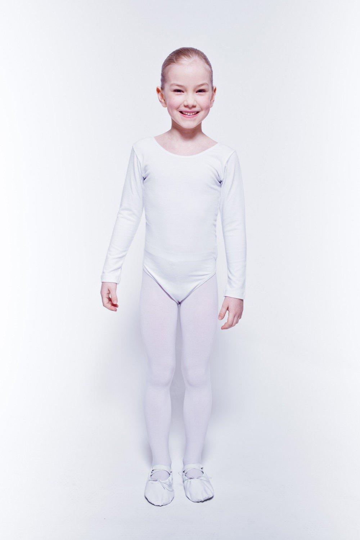 92//98 3-4 Anni tanzmuster Body da Danza Classica Lilly per Bambini in Nero