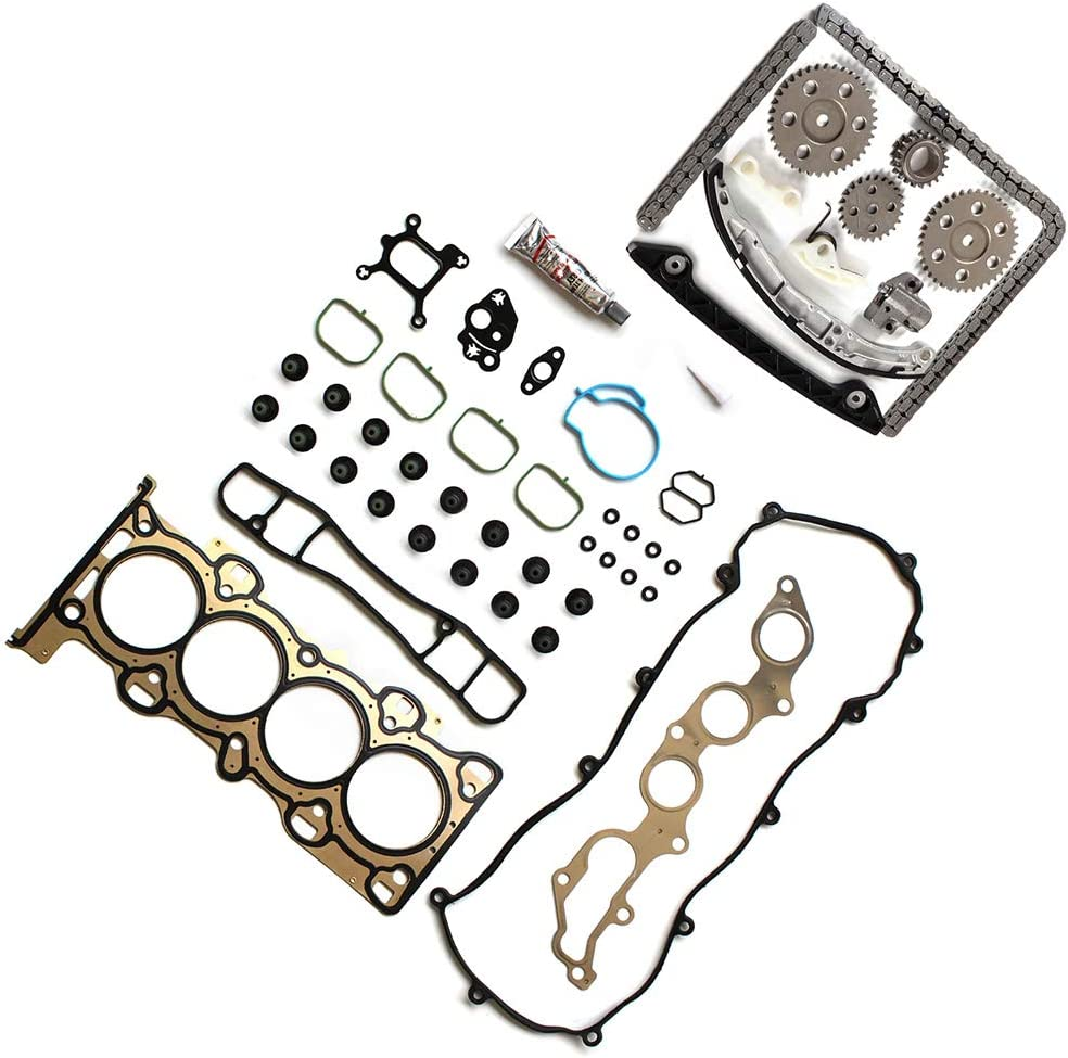 In AUTOMUTO Timing Part Timing Chain kit Head Gasket Set fits for 2001 2002 2003 2004 2005 2006 2007 2009 Ford Ranger 2.3L 140Cu l4 GAS DOHC Naturally Aspirated