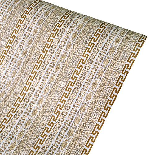 SimpleLife4U Exotic Style Self-Adhesive Shelf Liner PVC Contact Paper Refurbish Old Dining Table Bed Headboard 17.7 Inch By 13 Feet by SimpleLife4U (Image #6)