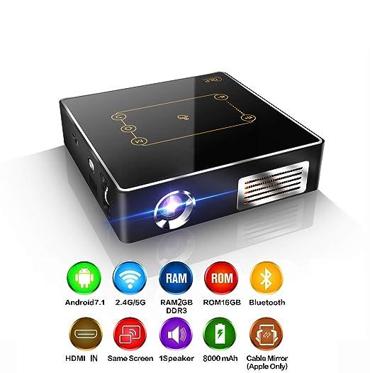 Mini proyector portátil, proyector de Video DLP, Compatible con ...