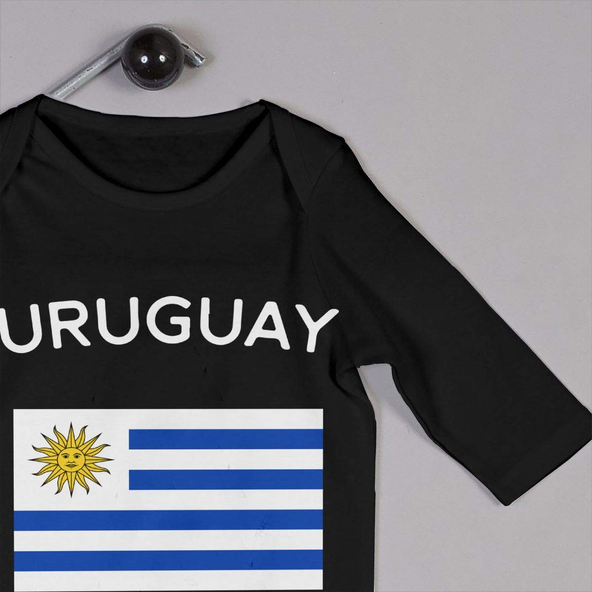 A1BY-5US Infant Baby Boys Girls Cotton Long Sleeve Uruguay Flag Romper Bodysuit Funny Printed Romper Clothes