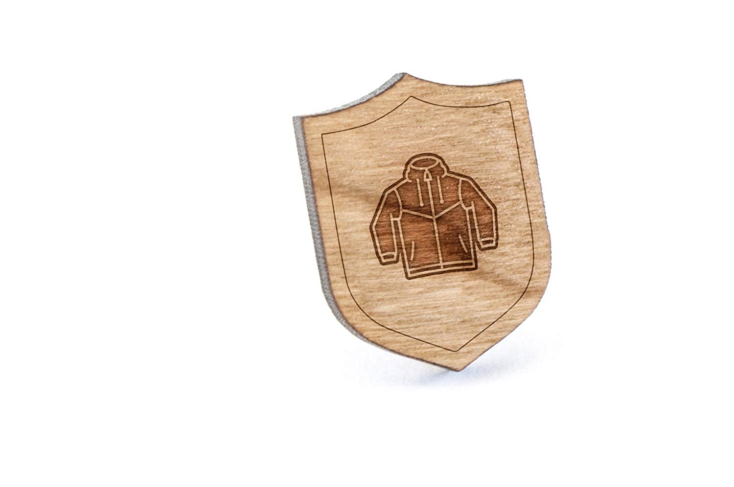 Windbreaker Lapel Pin, Wooden Pin And Tie Tack | Rustic And Minimalistic Groomsmen Gifts And Wedding Accessories