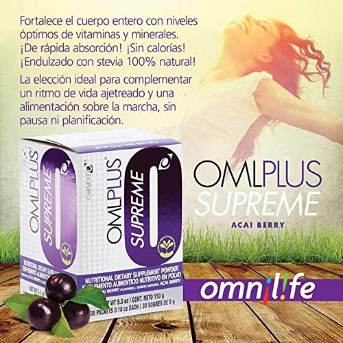 Amazon.com: OmniLife OML Plus Supreme Omniplus Box of 30 Sachets Orange(Naranja), Fruit(Fruta) or Acai Berry Flavor Shipped by Liss (Fruit/FRUTA): Health ...