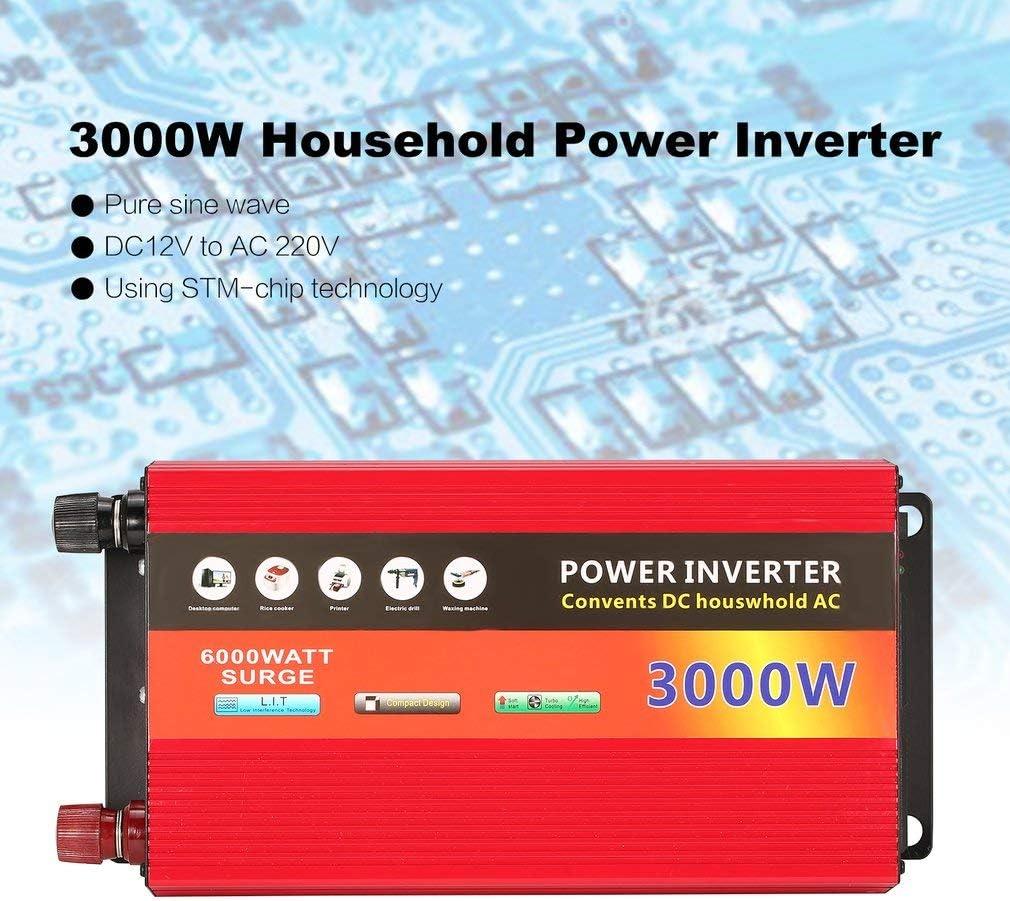 WOSOSYEYO 3000W de la energía Solar del hogar Inversor Transformador de Voltaje de Onda sinusoidal Pura Potencia del inversor 12V CC a 220V AC convertidor Cargador