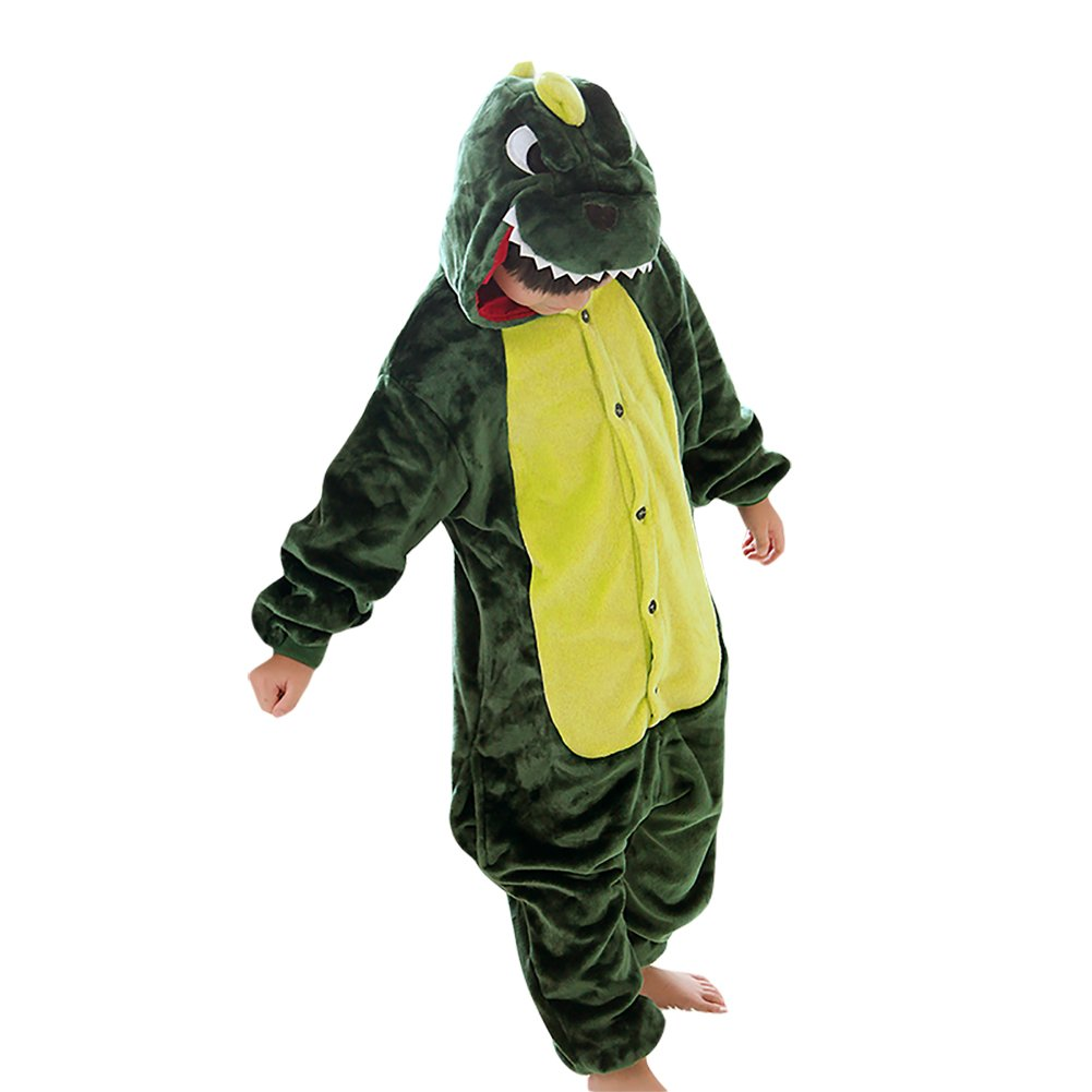 YFCH Unisex Kids Sleepwear Onesie Pajamas Animal Cosplay Costumes Cartoon Jumpsuit Nightwear 2-11 Years