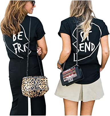 Image ofBest Friends Camisetas Mujer Mejor Amiga Tumblr Verano Tops Camiseta Manga Corta