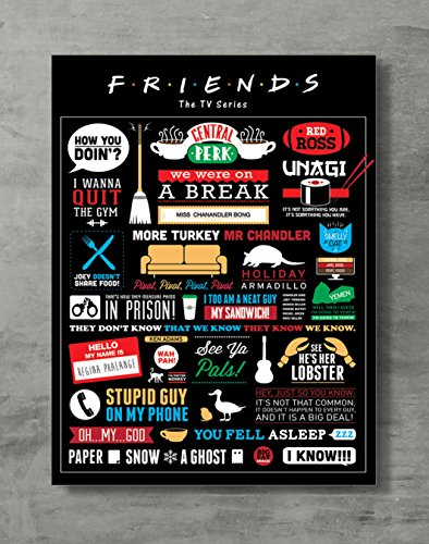Friends Poster- Friends TV Show Canvas Print Friends Merch Wall Art Posters Print Standard Size 18