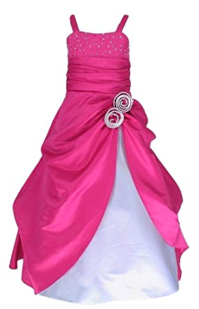 8a3593231a Fairy Dolls Girl's Satin Party Wear Gown: Amazon.in: Clothing ...