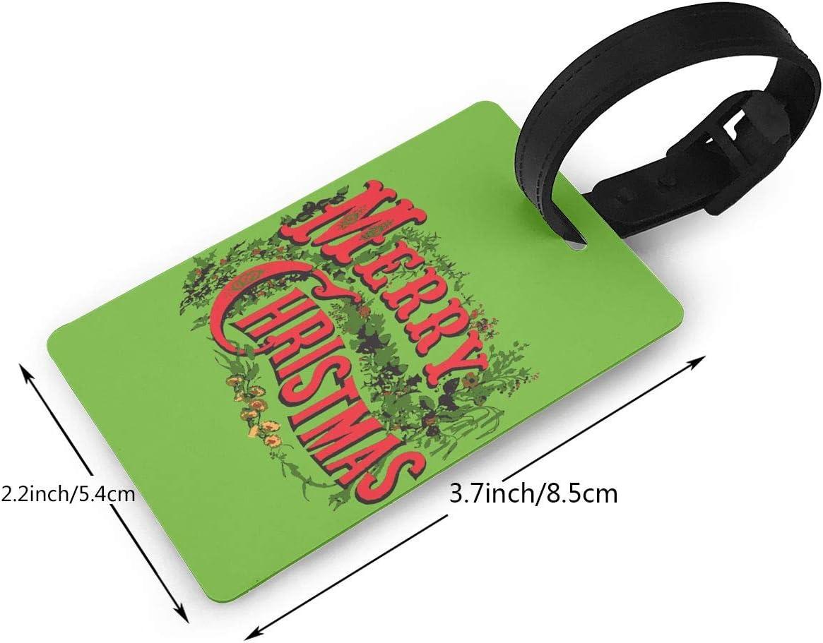 Happy Christmas Day PVC Travel Handbag ID Labels