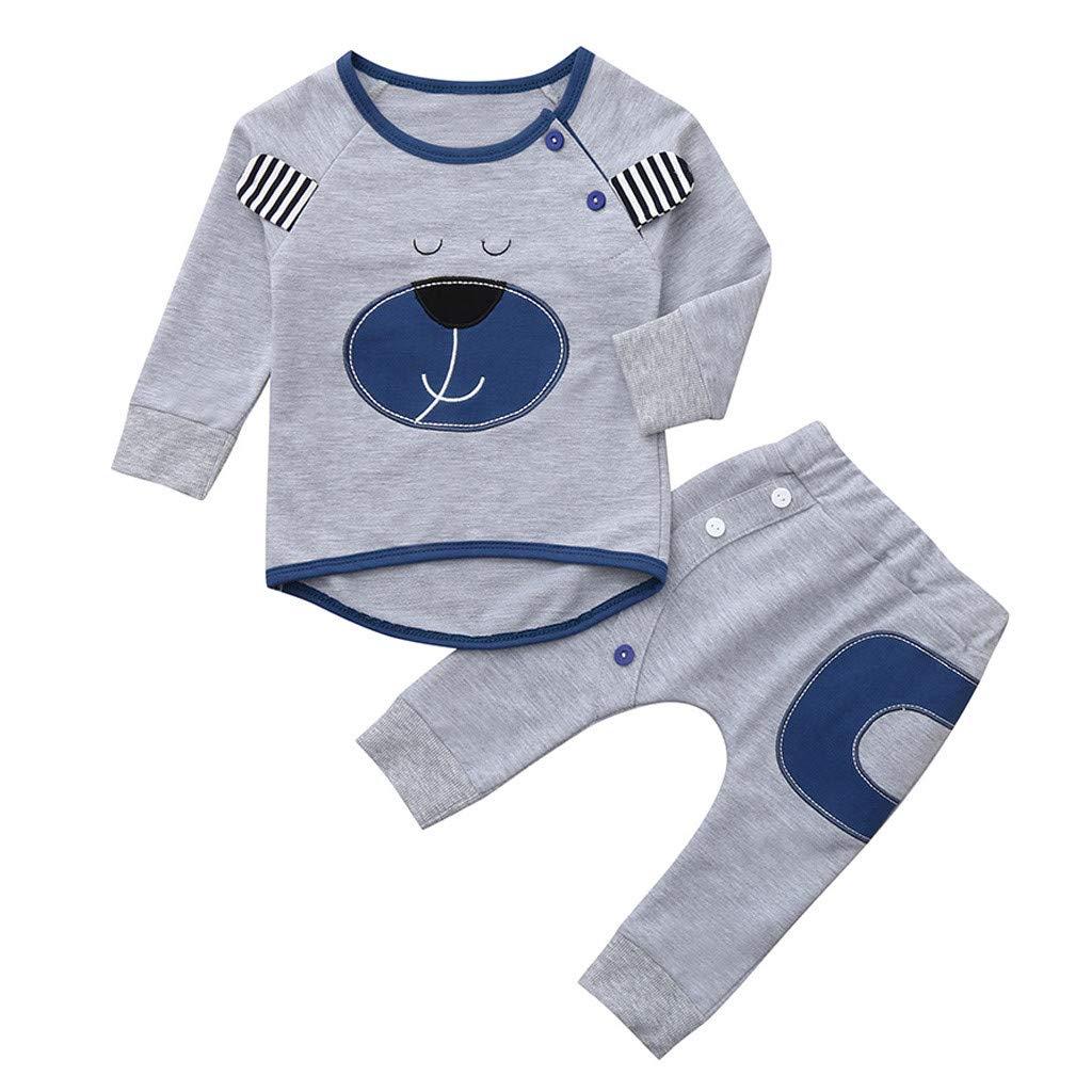 Conquro Otoño e Invierno bebé Manga Larga 3D Oso suéter Pantalones ...