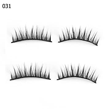 53a57525dbd Amazon.com : Oceaneshop SKONHED 4 Pcs Thick Glue-free Triple Magnets  Extension Tools Full Coverage False Eyelashes Magnetic Lashes : Beauty