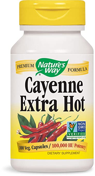Amazon.com : Natures Way Cayenne Xhot 100000 Hu : Cayenne Herbal Supplements : Beauty