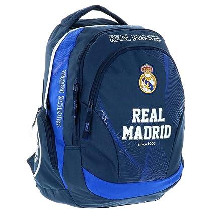 Real Madrid Exclusiv y ergonómico Mochila Ronaldo Mochila Escolar Bolsa 45 x 31 x 16 cm