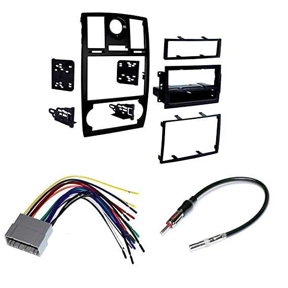 amazon com: 2005-07 chrysler 300 car stereo install mounting kit wire  harness and radio antenna: cell phones & accessories