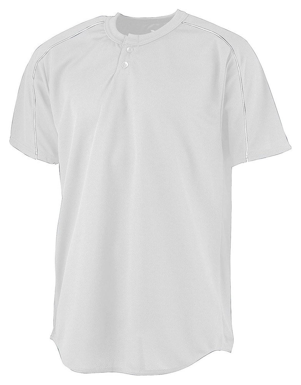 Augusta Sportswear Wicking Two-Button Baseball Jersey