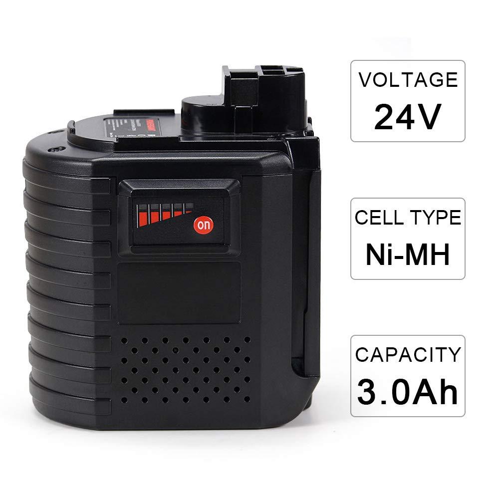 POWERGIANT 24V 3.0Ah Ni-MH Batería para Bosch GBH 24V, GBH 24VFR, GBH 24VRE, WURTH 24V