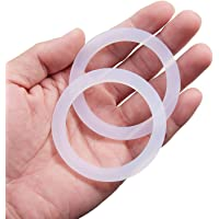 Litorange 8 PCS Spare Food Grade Silicone (Better Than Rubber) Gasket Seal Ring for Aluminium Stovetop Coffee Maker Pots Bialetti Moka Express DAMA 3 Cups & 4 Cups